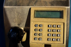 Gammalt callboxslut upp i Thailand arkivbilder