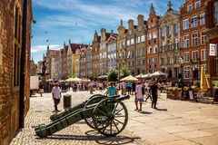 Gammalt centrum av Gdansk, Polen Royaltyfri Fotografi