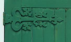 Gammalt dörrgångjärn Royaltyfria Foton
