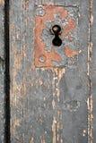 Gammalt dörrlås, närbildbakgrund Arkivbilder