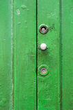 Gammalt dörrskåp Arkivbild