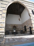 gammalt damascus hus Arkivbild