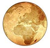 gammalt detaljerat jordklot Arkivbilder