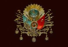 Gammalt emblem för ottomanvälde royaltyfria foton