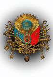Gammalt emblem för ottomanvälde arkivfoto