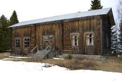 gammalt ensamt hus Fotografering för Bildbyråer