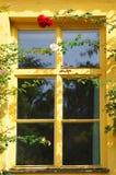 Gammalt europeiskt fönster Royaltyfri Bild