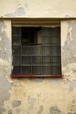 Gammalt exponeringsglas-tegelstenar fönster Royaltyfri Bild