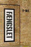 Gammalt fängelse i Horsens, Danmark arkivfoto