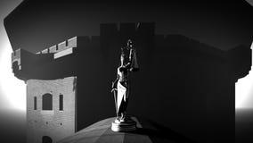 Gammalt fängelse som bygger tolkningen 3d Royaltyfria Bilder