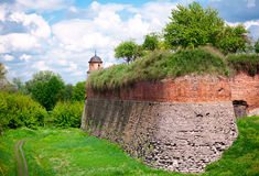 Gammalt fästning, hed royaltyfria foton