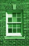 gammalt fönster för bakgrund Arkivfoton