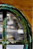 gammalt fönster för fartyg fotografering för bildbyråer