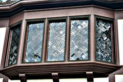 gammalt fönster för fjärd Royaltyfri Bild