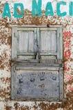 gammalt fönster för grunge royaltyfri fotografi