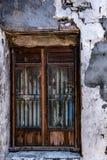 Gammalt fönster för kinesisk stil i en forntida stad Arkivbilder