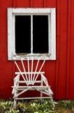 gammalt fönster för ladugård Royaltyfri Foto