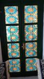 Gammalt fönster från taztoute Marocko Royaltyfri Bild