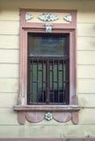 Gammalt fönster på ett hus i Sremski Karlovci 1 Royaltyfria Foton