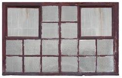 gammalt fönsterträ för fabrik Royaltyfria Foton
