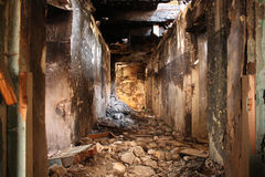 gammalt förstört för hus Fotografering för Bildbyråer