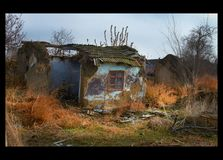 gammalt förstört för hus Royaltyfri Fotografi