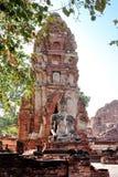 gammalt förstört tempel thailand Royaltyfri Bild