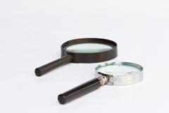 Gammalt förstoringsglas. Royaltyfri Bild
