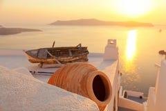 Gammalt fartyg i Firostefani, Santorini Royaltyfria Bilder