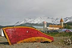 Gammalt fartyg i Ushuaia, Tierra del Fuego Fotografering för Bildbyråer