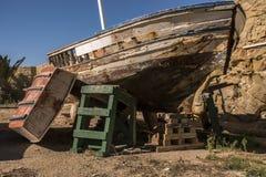 Gammalt fartyg på ön av Tabarca Royaltyfri Fotografi