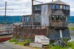 Gammalt fartyg som göras in i hem Fotografering för Bildbyråer