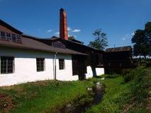 Gammalt faundry, Maleniec, Polen Arkivbild