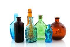 gammalt flaskexponeringsglas Arkivbild