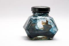 gammalt flaskfärgpulver Arkivbild