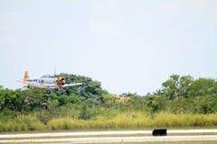 Gammalt flyg för kämpenivå Arkivfoton