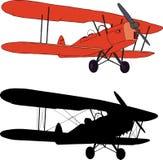 gammalt flygplan vektor illustrationer