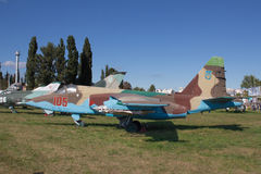 gammalt flygplan royaltyfri foto