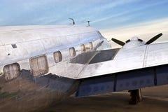 Gammalt flygplan DC3 Arkivbilder