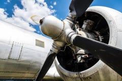 Gammalt flygplanslut upp arkivbild
