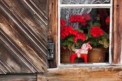 gammalt fönster Arkivfoton