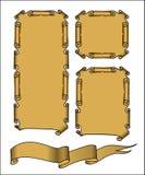 Gammalt forntida snirkelpapper antik scroll royaltyfri illustrationer