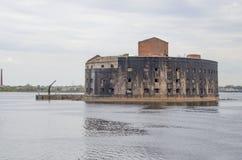 Gammalt fort Alexsandr I i Kronstadt Ryssland Arkivfoto