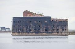 Gammalt fort Alexsandr I i Kronstadt Ryssland Fotografering för Bildbyråer