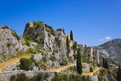 Gammalt fort i Klis, Kroatien Royaltyfri Fotografi