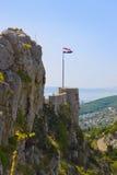 Gammalt fort i splittring, Kroatien Arkivbild