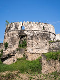 Gammalt fort (Ngome Kongwe) i stenstaden, Zanzibar arkivbild