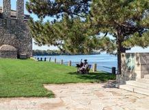 Gammalt fort Niagara - historisk händelse Royaltyfri Foto