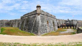 Gammalt fort, St Augustine, FL Royaltyfri Bild