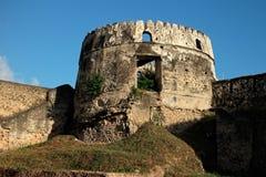 Gammalt fort - Zanzibar Arkivbilder